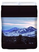 The Distant Peaks Of Pikes Duvet Cover