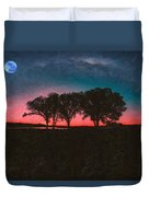 Distant Trees Under Milkyway Horizon By Adam Asar 3 Duvet Cover