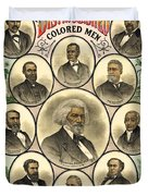 Distinguished Colored Men   1883 Duvet Cover by Daniel Hagerman