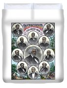 Distinguished Colored Men Duvet Cover