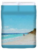 Ditch Plains Beach Montauk Hamptons Ny Duvet Cover