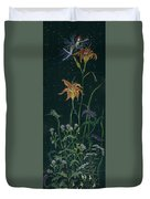 Ditchweed Fairy Daylily Duvet Cover