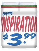 Divine Inspiration Supermarket Series Duvet Cover