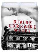 Divine Lorraine Hotel Marquee Duvet Cover
