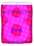 Divine Pink Number Eight Duvet Cover