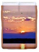 Divine Sunset On The Indian River Bay Duvet Cover
