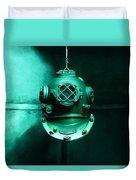 Diving Helmet Duvet Cover