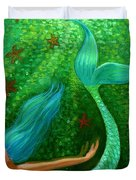 Diving Mermaid Fantasy Art Duvet Cover