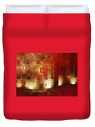 Diwali Card Lamps And Murals Blue City India Rajasthan 2g Duvet Cover