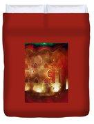 Diwali Card Lamps And Murals Blue City India Rajasthan 2h Duvet Cover