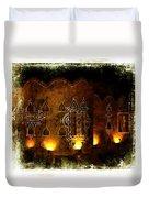Diwali Lamps And Murals Blue City India Rajasthan 2b Duvet Cover