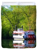 Dixie Belle River Boat Duvet Cover