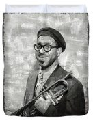 Dizzy Gillespie Vintage Jazz Musician Duvet Cover