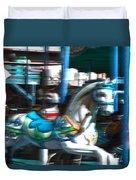 Dizzy In Blue Duvet Cover
