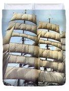 dk tall ships kruzenshtern barque lyr 1926 full D K Spinaker Duvet Cover