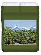 Dm6850-e Orange Grove And The Sierra Nevada Ca Duvet Cover