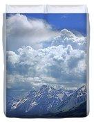 Dm9233 Clouds Over Mt. Moran V Duvet Cover