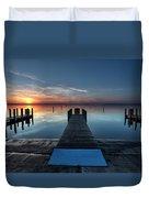 Dnr West Boat Launch Sunrise Duvet Cover