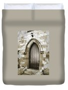 Do-00055 Chapels Door In Morpeth Village Duvet Cover