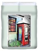 Do-00091 Telephone Booth In Morpeth Duvet Cover