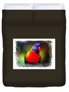 Do-00153 Colourful Lorikeet Duvet Cover