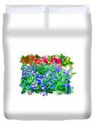 Do-00221 Flowers Duvet Cover