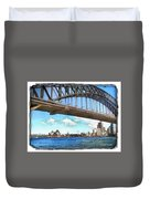 Do-00284 Sydney Harbour Bridge And Opera House Duvet Cover