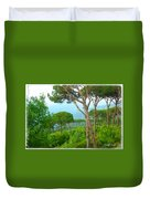 Do-00301 Pine Trees Forest In Aaraya Duvet Cover