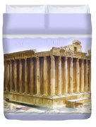 Do-00312 Temple Of Bacchus In Baalbeck Duvet Cover