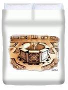 Do-00323 Old Bath Fountain Duvet Cover