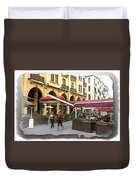 Do-00352 Downtown Coffee Shops Duvet Cover