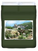 Do-00402 Mussaylaha Fort At Nahr El-jawz Duvet Cover