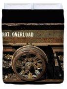 Do Not Overload Duvet Cover