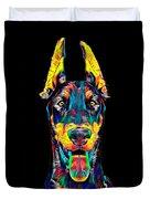 Doberman Dog Breed Head Pet Breed True Friend Color Designed Duvet Cover