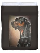 Doberman Duvet Cover