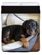 Doberman Puppy Duvet Cover