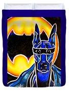 Dog Superhero Bat Duvet Cover