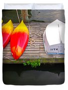 Dock And Boats Duvet Cover