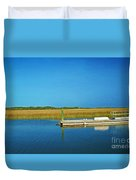 Dock And Marshes Duvet Cover