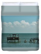Dock By The Sea Duvet Cover