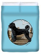 Dock Dog  Duvet Cover