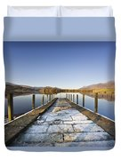 Dock In A Lake, Cumbria, England Duvet Cover
