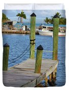 Dock In The Keys Duvet Cover