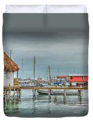 Dock Of The Sea Duvet Cover