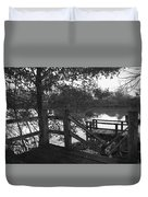 Dock On The Bayou Duvet Cover