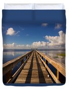 Dock On The Lake Duvet Cover