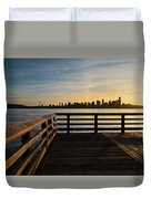 Dock With A View Duvet Cover