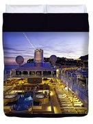 Docked In Monte Carlo Duvet Cover