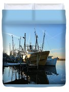 Docks At Darien  Duvet Cover
