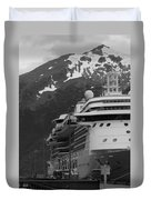 Dockside In Skagway Duvet Cover